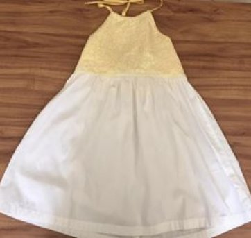 Vestido Paetês Amarelos Alphabeto