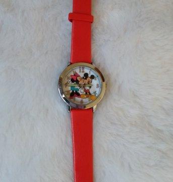 relógio de pulso minnie e mickey