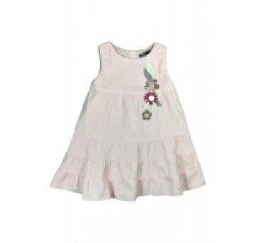 Vestido Veludo Rosa Com Flores Zara Girl