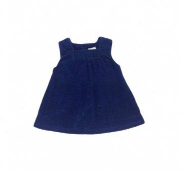 Vestidinho Veludo Marinho Zara Mini