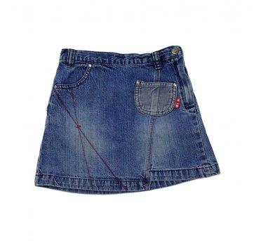 Mini Saia Jeans Bolsinhos Veludo H
