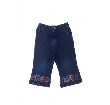 Jeans Barra Bordada Baby Gap