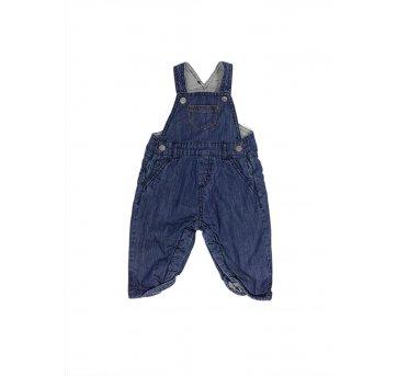 Jardineira Jeans Forro em Malha Zara Mini
