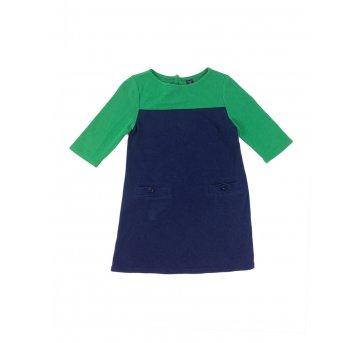 Vestido de Malha Marinho e Verde Baby Gap