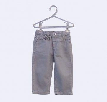 Calça Jeans Cinza com Laço