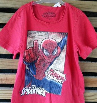 Camiseta Marvel Homem Aranha com estampa em alto-relevo tam 6 anos