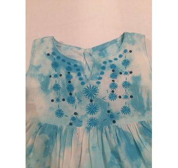 Vestido Tie Die Azul