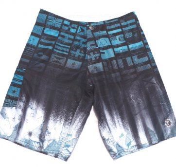 Bermuda Tactel Estampada WAVE GLANT 14 Anos