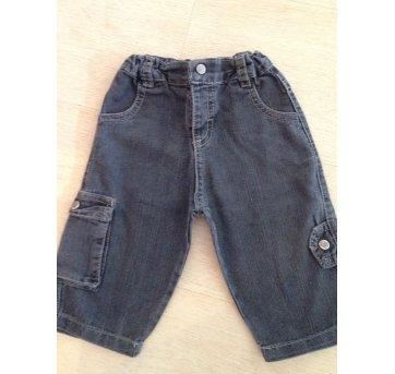 Calça Zig Mundi jeans black 6/9 meses
