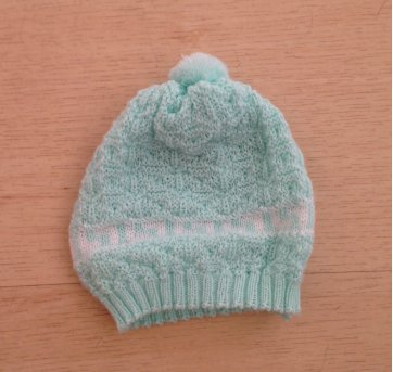 Gorro de lã 0-3 meses