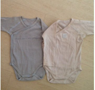 Kit 2 bodies Grain de Blé 6 meses