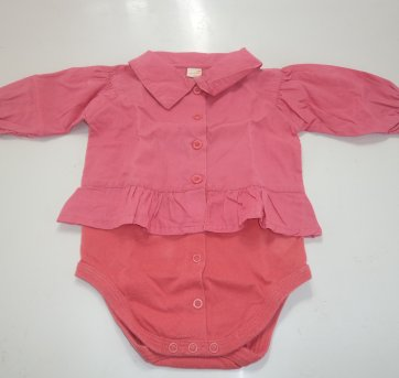 "Body ""Camisa Social"" Rosa"