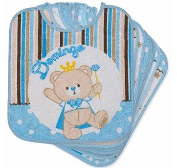 Babador Semaninha Ursinho Azul Baby Joy