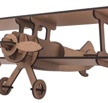 Quebra-cabeça MDF 3D Avião Pasiani