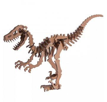 Quebra-cabeça MDF 3D Dinossauro Velociraptor Pasiani
