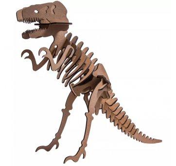 Quebra-cabeça MDF 3D Dinossauro Tiranossauro Rex Pasiani