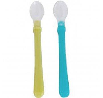 Colher Silicone Soft Tip Azul E Verde Pur 5404a