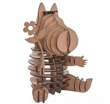 Quebra-cabeça MDF 3D Hipopótamo Lisbela Pasiani