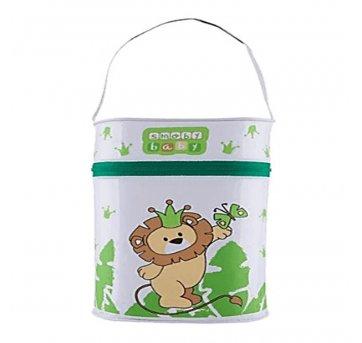 Porta Mamadeira Térmico Isopor Duplo Leão Verde Smoby Baby