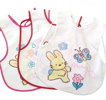 Kit 3 Babadores de Vestir Coelhinho Bia Baby