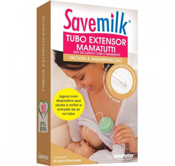 Tubo Extensor Mamatutti Savemilk JohnPetter - 10 unidades