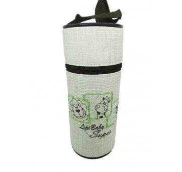 Bolsa Porta Mamadeira Térmico Isopor Bichinhos Verde Lipi