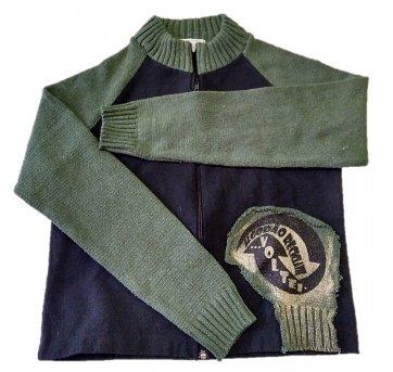 Blusa infantil ecológica PET manga comprida  verde preto M