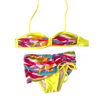 Biquíni Infantil Amarelo Estampado Tam 4  La Playa 40815
