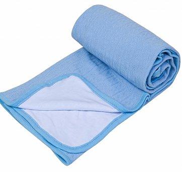 Manta Bebê Térmica Tricot Malha Azul Papi 5708
