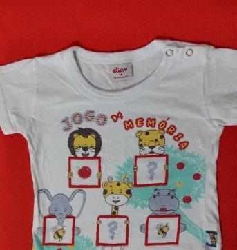 Camiseta Bebê Jogo da memória .