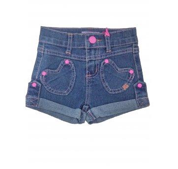 Shorts Infantil Jeans Menina Fashion