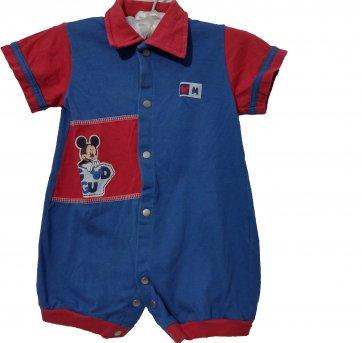 Macacão Curto Bebê Mickey Disney .