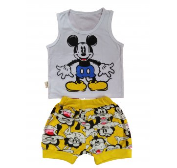 Conjunto Curto Bebê Mickey .