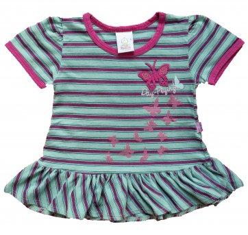 Vestido  Bebê Borboletas 6-9 Meses .