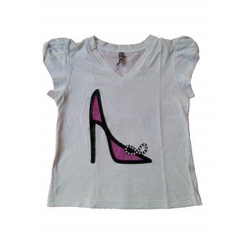 Camiseta Infantil Sapatinho de Princesa . .