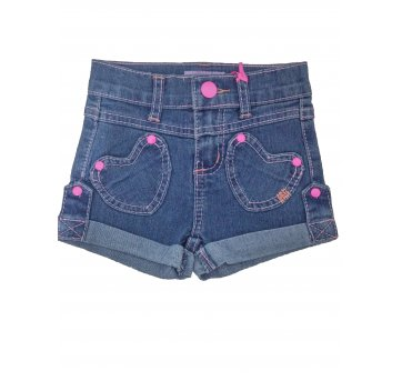 Shortinho Infantil Menina Jeans .