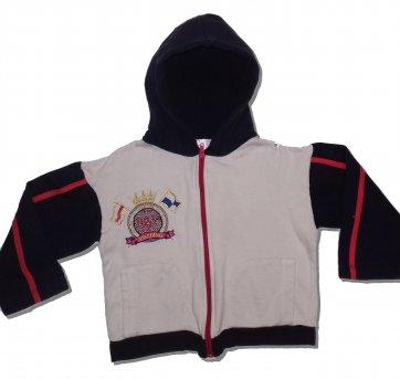 Blusa De Frio Moletom Infantil Masculino com Capuz  - Tam. 03