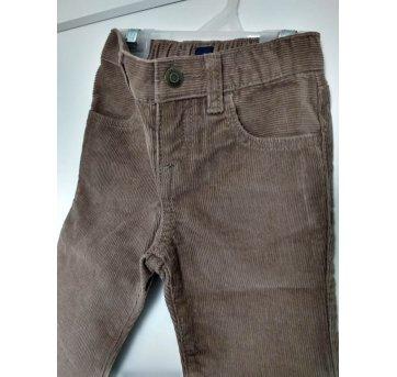 055-Calça de veludo marrom Baby Gap(1129)