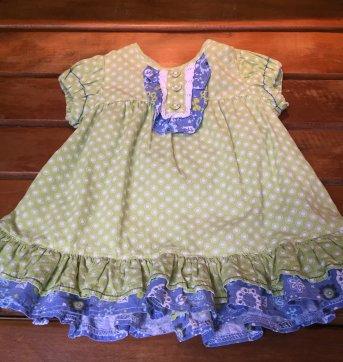 vestido verde est babadinhos tip top