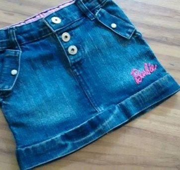 Saia Jeans Barbie