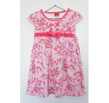 Vestido Plush Floral Rosa
