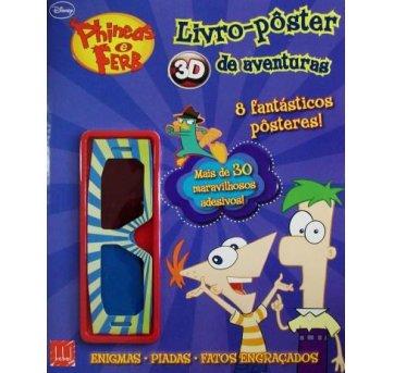 Phineas e Ferbs - Livro pôster 3D de aventuras