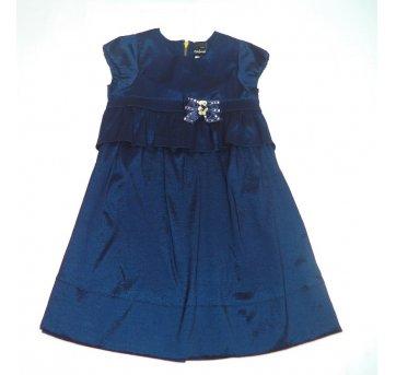 Vestido Azul Marinho Ursinho ANIME 10/12 Anos