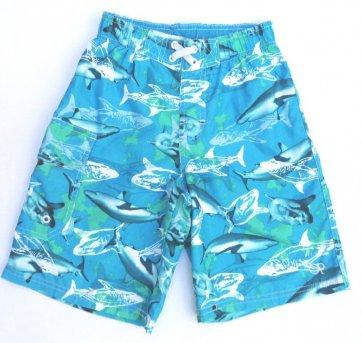 Bermuda Azul Estampa Tubarão OP 8 Anos