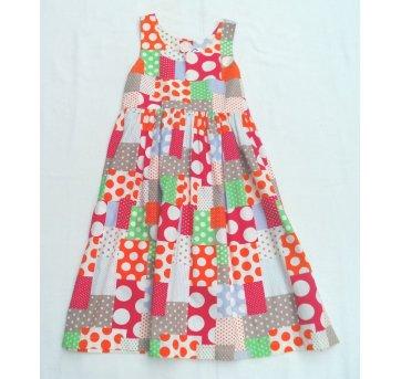 Vestido Rodado Colorido Estampas Bolinhas 10 Anos