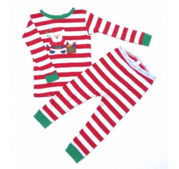 Conjunto Pijama  Blusa+ Calça Listrado Papai Noel BABY GAP 18/24 Meses