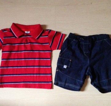 Conjunto bermuda e  camisa 1 ano