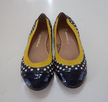 Sapatilha Azul com Amarelo