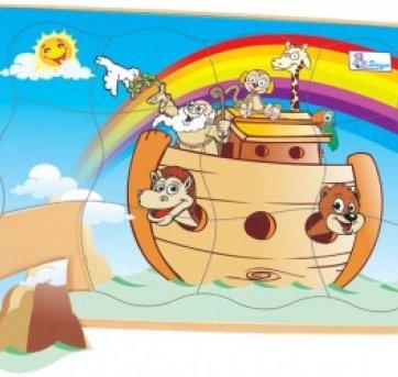 Quebra Cabeça Madeira Arca de Noé Simgue 465