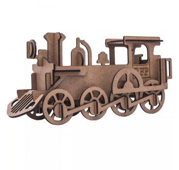 Quebra-cabeça MDF 3D Trem Locomotiva Pasiani